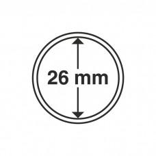 Капсула для монет внутренний диаметр 26 мм. Leuchtturm
