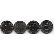 Набор из 4 монет, 1 доллар США Серия