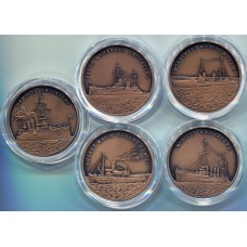 Набор монет Турция (5 монет) 2015 год.  2,5 лиры