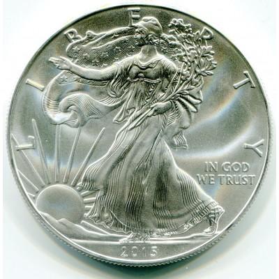 1 доллар США «Шагающая свобода» 1 унция серебра 2015 года. США