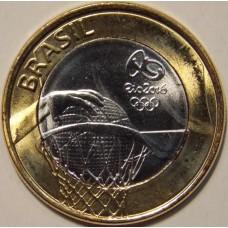 1 Реал 2015 года  ОЛИМПИАДА-2016. Набор монет (выпуск №2). Бразилия.