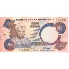 5 найра 2004 года. Нигерия