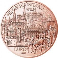 Федеральные земли Австрии: Вена. 10 евро. 2015 год. Австрия