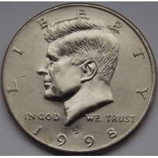 Half Dollar (50 центов) США 1998 года. Двор - D