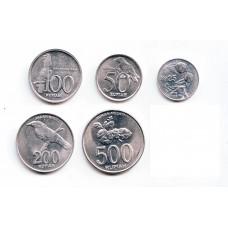 Индонезия. Набор монет (5 монет)