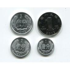Китай. Набор монет (4 монеты)