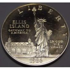 100 лет Статуе Свободы, 1 доллар США 1986 года (серебро 900)