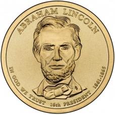 Авраам Линкольн. 1 доллар 2010 года. США