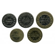 Бахрейн. Набор монет (5 монет)
