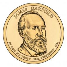 Джеймс Гарфилд. 1 доллар 2011 года. США