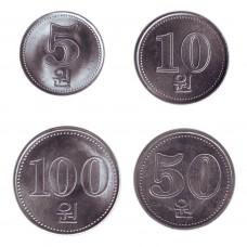 Северная Корея. Набор монет (4 монеты)