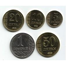 Таджикистан. Набор монет (7 монет)