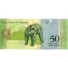 50 боливаров 2009 года. Венесуэла
