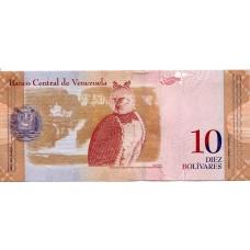 10 боливаров 2007 года. Венесуэла
