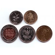 Руанда. Набор монет (5 монет)