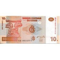 10 франков 2003 года. ДР Конго (KM# 93)