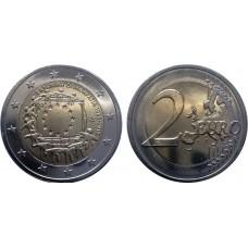 30 лет Флагу Евро Союза. 2 евро 2015 года. Греция