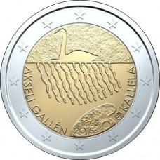 Аксели Галлен-Каллела, 2 евро 2015 года, Финляндия