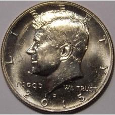 Half Dollar (50 центов) США 2015 года.  (D)