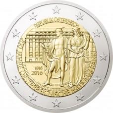 200 лет Национальному Банку. 2 евро 2016 года. Австрия