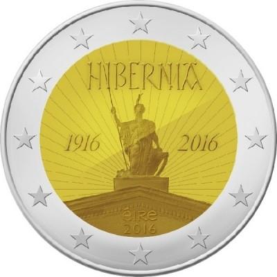 100-летие Пасхального восстания. 2 евро 2016 года. Ирландия
