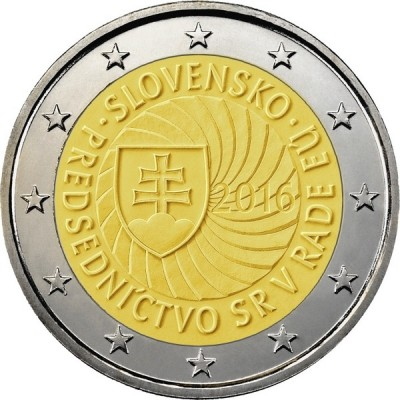 Председательство Словакии в Совете Европейского союза. 2 евро. 2016 год. Словения