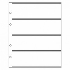 "Лист для хранения бон (банкнот) на 4 ячейки. Стандарт ""OPTIMA"". Размер 200х250 мм"