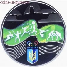 Игры XXXI Олимпиады в Рио-де-Жанейро (Бразилия). Монета 2 гривны  2016 год. Украина