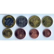 Набор разменных монет Республики Беларусь образца 2009 г. (в обращении с 2016 года)