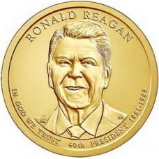 Рональд У. Рейган. 1 доллар 2016 года,  40-й президент США