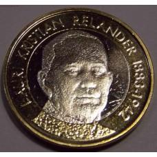 Лаури Кристиан Реландер. 5 евро 2016 года. Финляндия