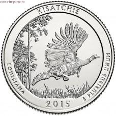 Кисатчи (Kisatchie). 25 центов 2015 года США. №27 (монетный двор Филадельфия)