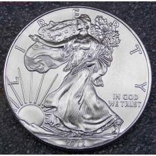 1 доллар США «Шагающая свобода» 1 унция серебра 2012 года. США