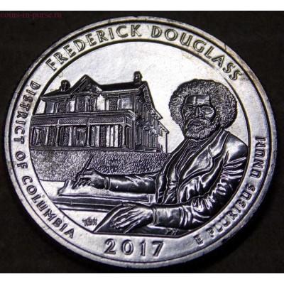 Национальное историческое место Фредерика Дугласа. 25 центов 2017 года США.  №37 (UNC)