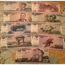 Набор банкнот Северной Кореи (9 шт.)