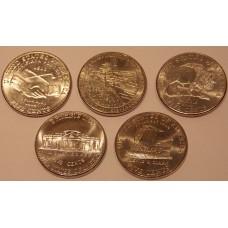 Набор из 5 центовых монет