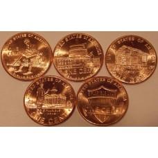 Набор монет по 1 центу (Юность Линкольна) США